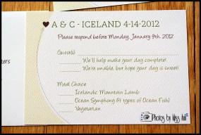 Destination Wedding RSVP Cards