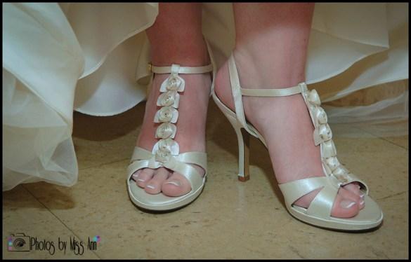 Rosette Bridal Shoes Spring Wedding Iceland