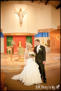 St. Pius X Catholic Church Wedding Portraits Michigan Wedding Photographer Photos by Miss Ann