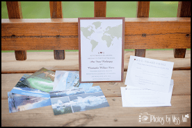 Detailed Destination Wedding Invitation for Iceland Wedding Seljalandsfoss Waterfall April 2012