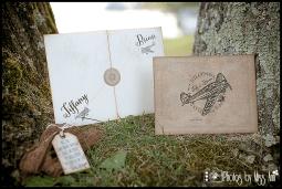 Vintage Destination Wedding Invitation for Iceland Wedding Photos by Miss Ann