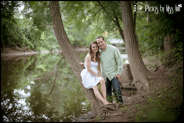 Romantic River Engagement Session Michigan State Photos by Miss Ann Plymouth MI Wedding Photographer