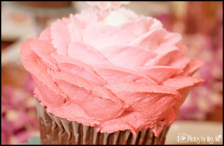 Pink Ombre Cupcakes for Bridal Shower or Bachelorette Party