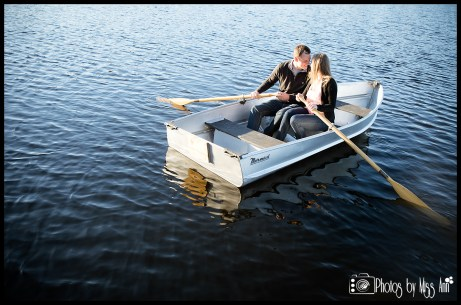 Row Boat Engagement Session Michigan Iceland Wedding Planner Photos by Miss Ann