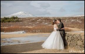 Iceland Wedding Kiss atThingvellir Park Iceland Wedding Photographer Photos by Miss Ann