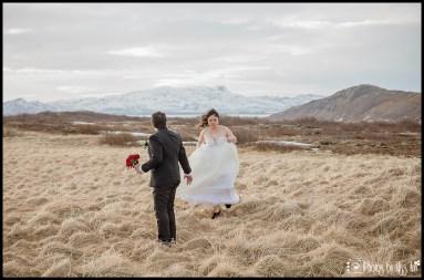 Thingvellir National Park Iceland Grass Covered House Wedding Photos