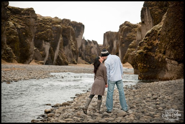 Iceland Engagement Post Wedding Session Fjadrargljufur Canyon Photos by Miss Ann