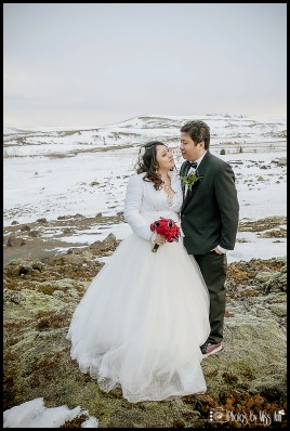 Iceland Lava Field Wedding Photos by Miss Ann