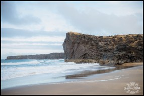 Skardsvik Beach Snæfellsnes Peninsula Iceland Wedding Photos by Miss Ann