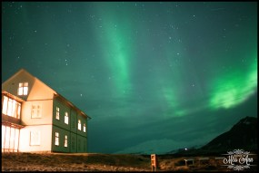 Snæfellsnes Peninsula Northern Lights at Hotel Budir Photos by Miss Ann
