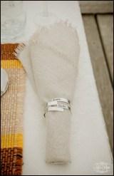 Iceland Wedding Table Setup Napkin Rings Iceland