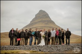 Iceland Wedding Adventure Group at Kirkjufellsfoss