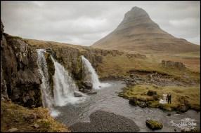 Iceland Wedding at Kirkjufellsfoss Waterfall Photos by Miss Ann