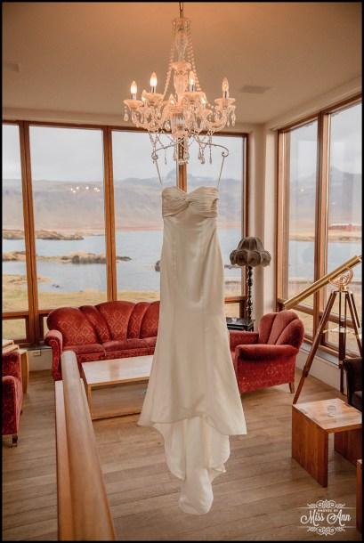Iceland Wedding Dress Hotel Budir