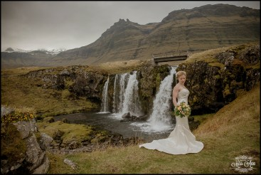 Iceland Wedding Dress Iceland Wedding Kirkjufellsfoss Waterfall
