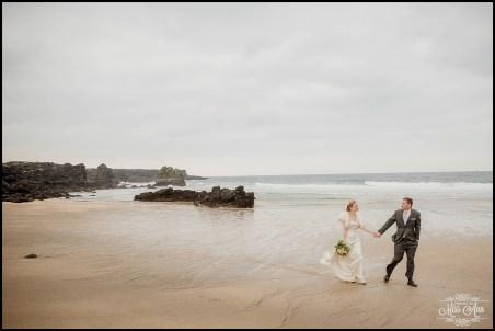 Iceland Wedding Skardsvik Beach 1