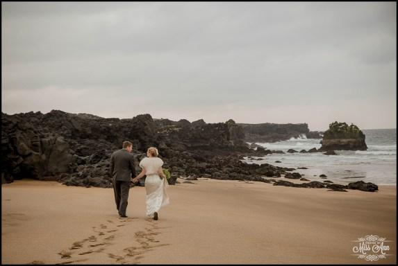 Iceland Wedding Skardsvik Golden Beach