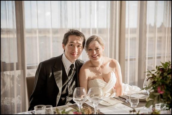 Bride and Groom Iceland Wedding Reception