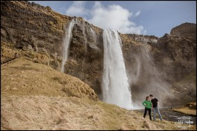Iceland Wedding Engagement Session Seljalandsfoss Waterfall