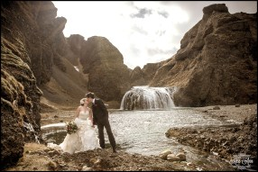 Stjornafoss Waterfall Wedding