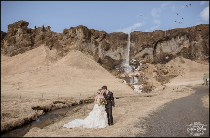 Super Secret Waterfall Iceland Wedding