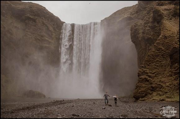 Skogafoss Post Wedding Session Iceland Engagement Session