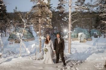Finland Destination Wedding Igloo Hotel Photos by Miss Ann-36