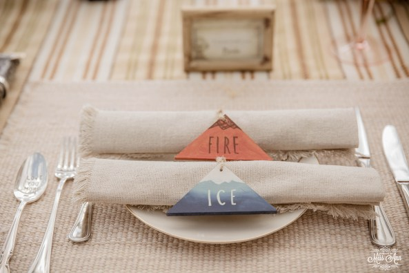 Iceland Wedding Fire and Ice Theme Reception