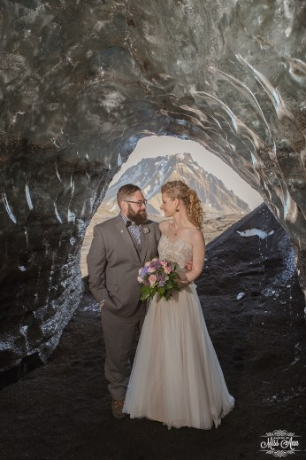 Ice Cave Wedding in Iceland