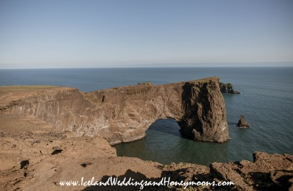 Iceland Weddings and Honeymoons Dyrholaey Sea Arch