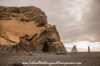 Iceland Weddings and Honeymoons Reynisfjara Black Sand Beach Basalt Columns