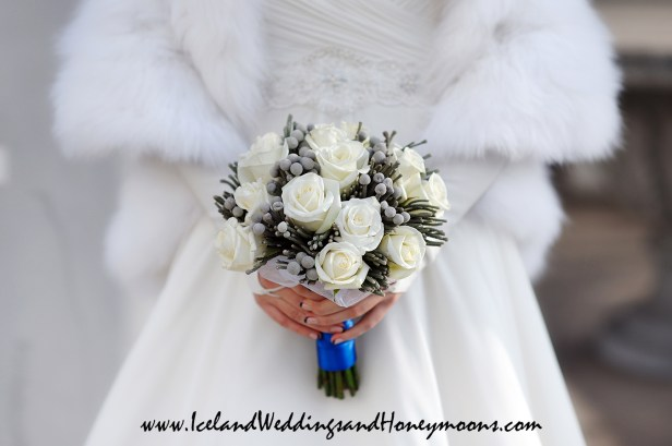 Iceland Weddings and Honeymoons Winter Wedding Bouquet