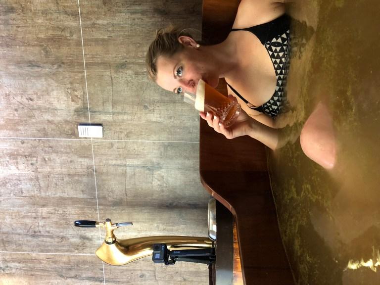 Bjorbodin Beer Bath Spa in North Iceland