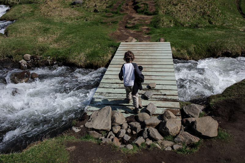 crossing hengifoss bridge (1 of 1)