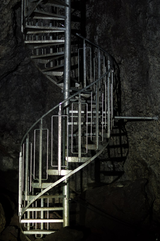 lava cave spiral stairs