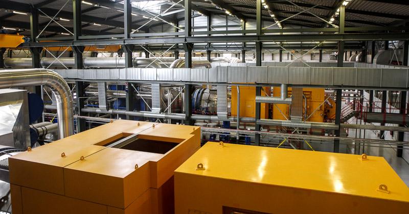 on power geothermal turbine room
