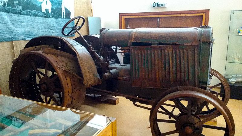 tractor from folk museum