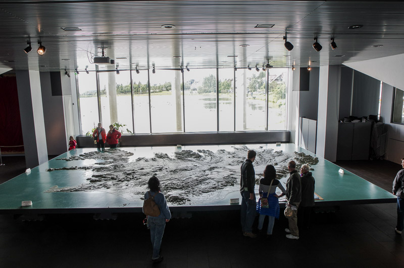 city hall relief map