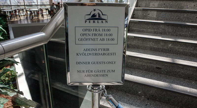 perlan dinner closed