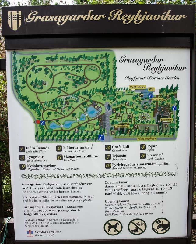 reykjavik botanical gardens map