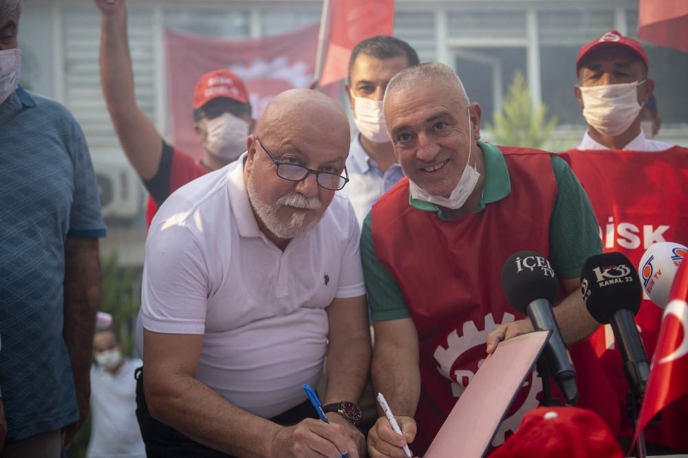 Mersin Büyükşehir Belediyesi'nde bin 187 işçiyi kapsayan toplu iş sözleşmesi imzalandı