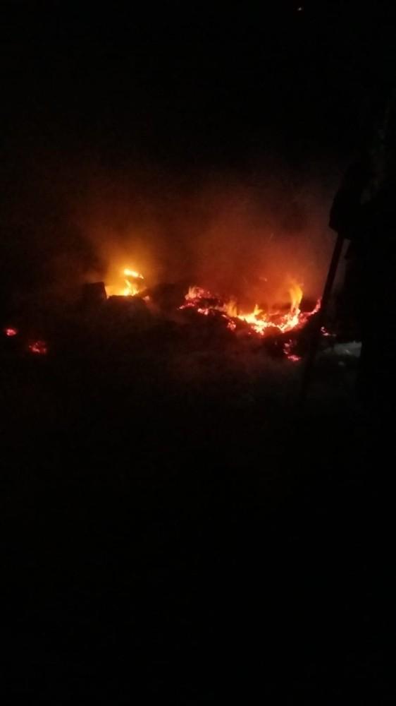 Tarsus'ta yanan çadırda maddi hasar oluştu