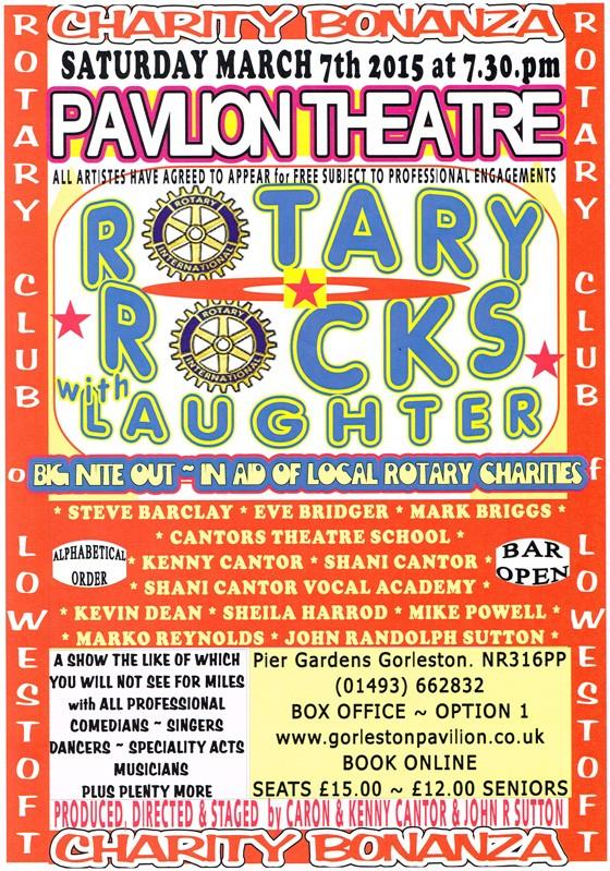 ROTARY ROCKS with LAUGHTER GORLESTON PAVILION THEATRE