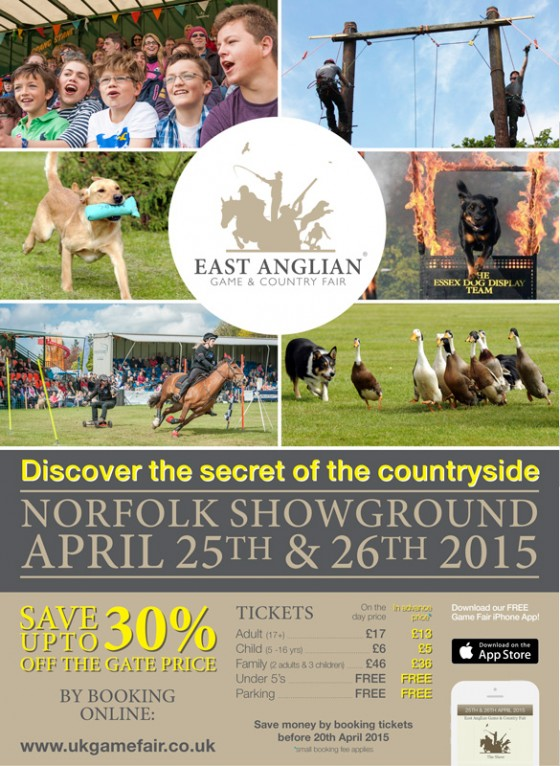 Family Tickets East Anglian Game and Country Fair 2015