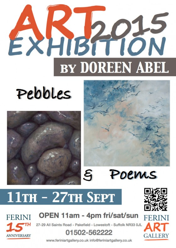Ferini Autumn Art Exhibitions Doreen Abel Pebbles & Poems