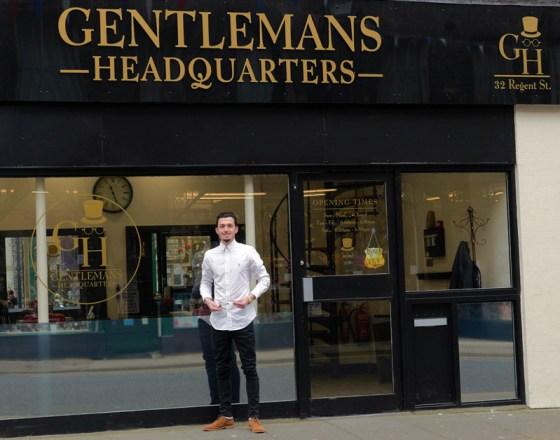 Ryan Lawes, of Gentleman's Headquarters, a new barber shop in Regent Street