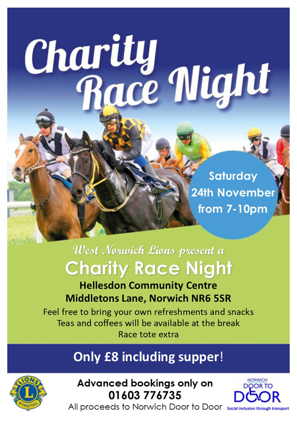 West Norwich Lions Charity Race Night