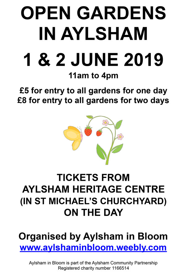 Aylsham Open Gardens Weekend 2019