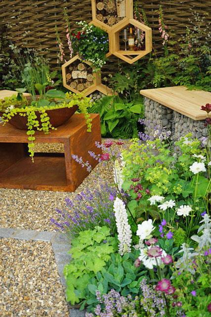 Bee themed garden