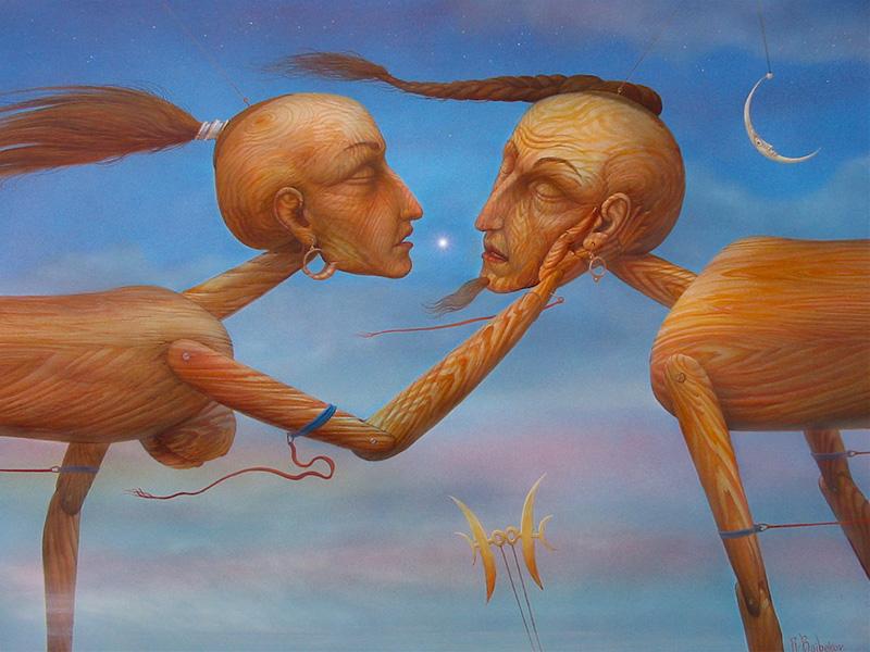 Wooden Lovers, by Rinat Baibekoz